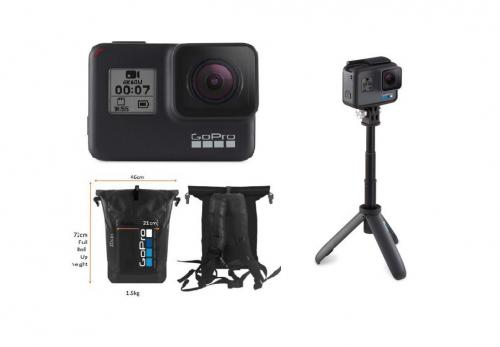 GoPro Hero 7 Black + Shorty + Balo