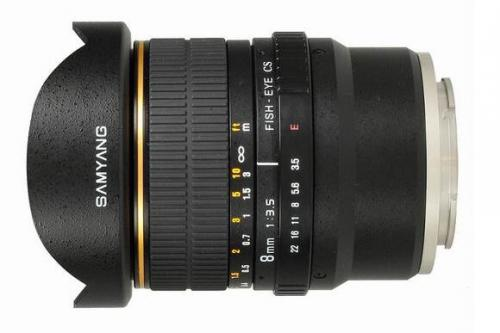 Samyang 8mm F3.5 Fish-eye CS VG10