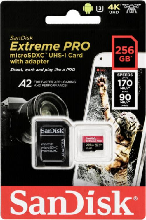 Sandisk Micro SD Extreme Pro (170/90mb)